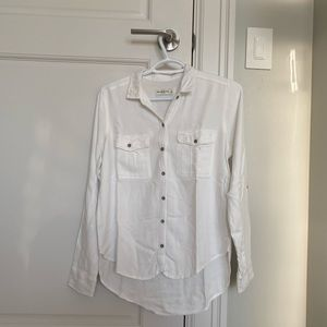 White Abercrombie & Fitch Button-up blouse Size S